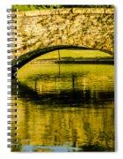 flagstone walking bridge at Freedom Park in Charlotte North Car Spiral Notebook