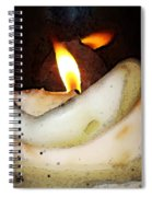 Flame Candle Art Spiral Notebook