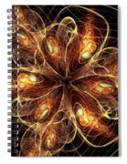 Flame Flower Spiral Notebook