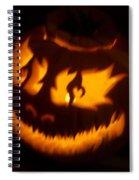 Flame Pumpkin Side Spiral Notebook
