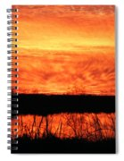 Flamed Sunset Spiral Notebook