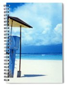 Flamenco Beach And Storm Spiral Notebook