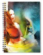 Flamencoscape 08 Spiral Notebook