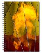 Flames Heating Up Hot Air Balloon Spiral Notebook