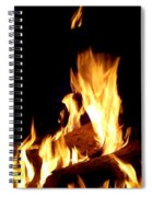 Flames In The Dark Spiral Notebook