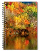 Flaming Autumn Abstract Spiral Notebook