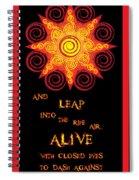 Flaming Celtic Sun Spiral Notebook