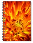 Flaming Dahlia - Paintography Spiral Notebook