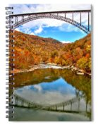 Flaming Fall Foliage At New River Gorge Spiral Notebook