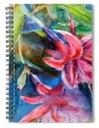 Flaming Fuchsias Spiral Notebook