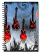 Flaming Guitars Spiral Notebook
