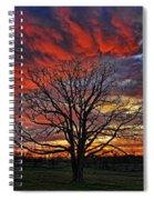 Flaming Oak Sunrise Spiral Notebook
