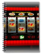Flaming Sevens Slots Spiral Notebook