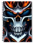 Flaming Skull Spiral Notebook