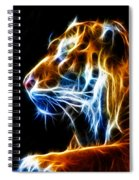 Flaming Tiger Spiral Notebook