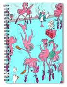 Flamingo A Go Go Spiral Notebook