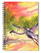 Flamingo In Alcazar De San Juan Spiral Notebook
