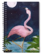 Flamingo Moon Frog Cathy Peek Tropical Bird Spiral Notebook