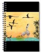 Flamingo Sunset Silhouette Cathy Peek Tropical Birds  Spiral Notebook
