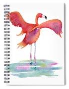 Flamingo Wings Spiral Notebook