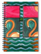 Flamingoes 2 Spiral Notebook