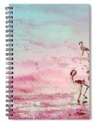 Flamingos In Camargue 03 Spiral Notebook
