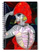 Flapper Girl In Glass Spiral Notebook