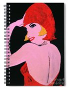 Flapper Girl In Orange C1929  Spiral Notebook
