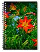Flashes Of Garden Fire Spiral Notebook