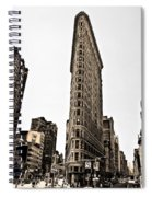 Flat Iron Building In Sepia Spiral Notebook