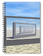 Flat Screen Desert Scene Spiral Notebook