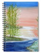 Flathead Lake Sunset Spiral Notebook