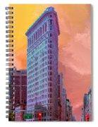 Flatiron Building At Sunset Spiral Notebook