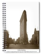 Flatiron Building New York City Circa 1904 Spiral Notebook