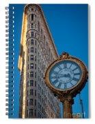 Flatiron Clock Spiral Notebook