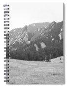 Flatirons Boulder Colorado Winter View Bw Spiral Notebook