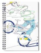 Flatland Bmx Spiral Notebook