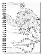 Flatland Bmx Nose Wheelie Spiral Notebook