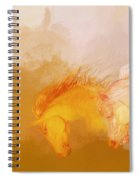 Flaxen Manes Spiral Notebook