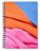 Fleece Material Spiral Notebook