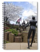 Fleeting Spring At The Arena Spiral Notebook