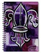Fleur De Lis Purple Abstract Spiral Notebook