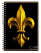 Fleur De Lis In Black And Gold Spiral Notebook