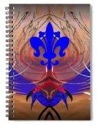 Fleur De Lis Spiral Notebook