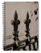Fleur-de-lis - Monochrome Spiral Notebook