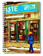 Fleuriste Notre Dame Flower Shop Paintings Carole Spandau Winter Scenes Spiral Notebook