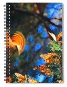 Flight Of A Monarch Spiral Notebook
