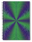 Flight Of Fancy Fractal In Green And Purple Spiral Notebook
