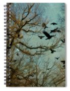 Flight Of The Forest Crows Spiral Notebook