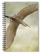 Flight Of The Egret Spiral Notebook